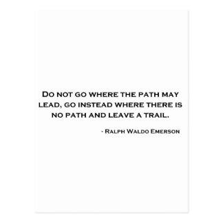 Cita de la innovación de Ralph Waldo Emerson Postales