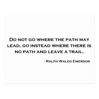 Cita de la innovación de Ralph Waldo Emerson Tarjeta Postal