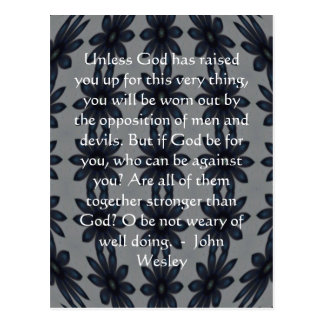 Cita de la inspiración de John Wesley con diseño Postal