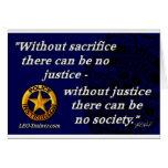 Cita de la justicia felicitaciones