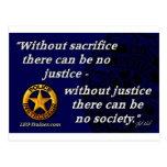 Cita de la justicia tarjetas postales