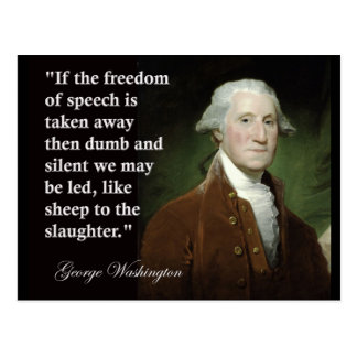 Cita de la libertad de expresión de George Postales