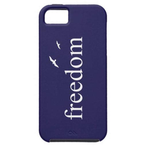 Cita de la libertad de los azules marinos iPhone 5 Case-Mate cárcasas