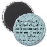 Cita de la literatura de Rene Descartes Imán Redondo 5 Cm