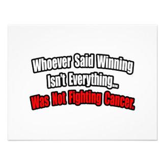 Cita de la lucha del cáncer comunicados