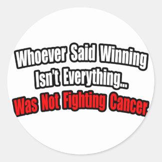 Cita de la lucha del cáncer etiquetas