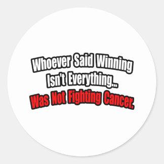 Cita de la lucha del cáncer pegatinas
