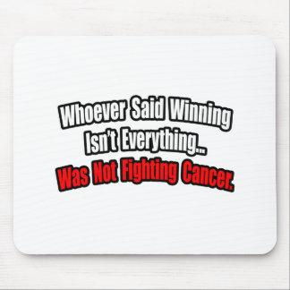 Cita de la lucha del cáncer tapetes de ratón