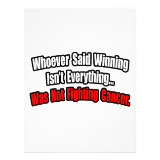 Cita de la lucha del cáncer tarjetas informativas