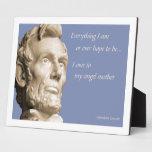 Cita de la madre de Lincoln Placas De Plastico