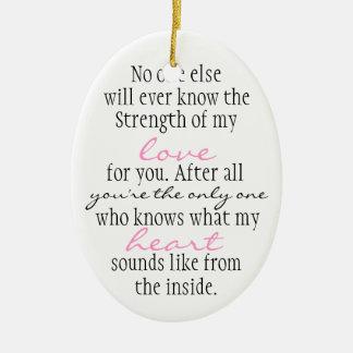 Cita de la madre ornamento de navidad