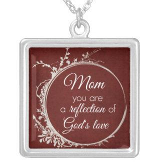 Cita de la mamá: Reflexión del amor de dios Colgante Cuadrado
