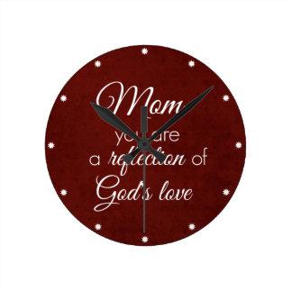 Cita de la mamá: Reflexión del amor de dios Reloj Redondo Mediano