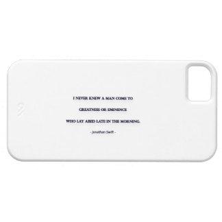 Cita de la mañana de Jonathan Swift - nunca sabía… iPhone 5 Carcasas