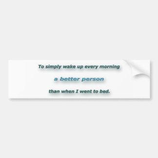 Cita de la mañana de Sidney Poitier - despertar Pegatina Para Coche