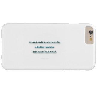 Cita de la mañana de Sidney Poitier - despertar Funda De iPhone 6 Plus Barely There