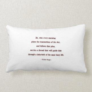 Cita de la mañana de Victor Hugo - él, que cada… Almohadas
