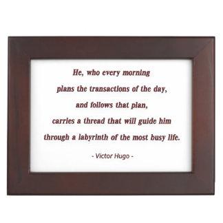 Cita de la mañana de Victor Hugo - él, que cada… Caja De Recuerdos