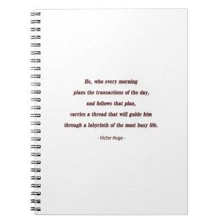 Cita de la mañana de Victor Hugo - él, que cada… Cuadernos