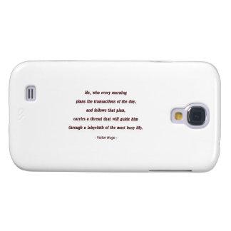 Cita de la mañana de Victor Hugo - él, que cada… Funda Para Galaxy S4
