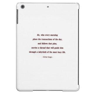 Cita de la mañana de Victor Hugo - él, que cada… Funda Para iPad Air