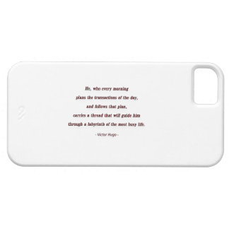 Cita de la mañana de Victor Hugo - él, que cada… Funda Para iPhone SE/5/5s