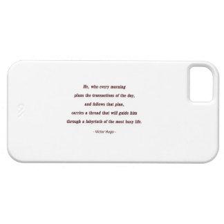 Cita de la mañana de Victor Hugo - él, que cada… iPhone 5 Fundas