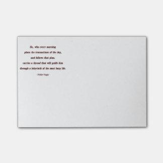 Cita de la mañana de Victor Hugo - él, que cada… Nota Post-it®