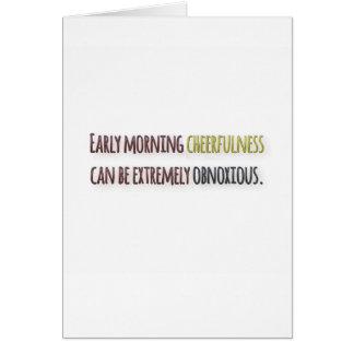 Cita de la mañana por la pluma de Guillermo Tarjeta De Felicitación