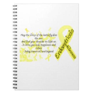 Cita de la mariposa de la conciencia de la endomet cuaderno