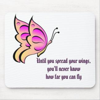 Cita de la mariposa alfombrillas de ratón