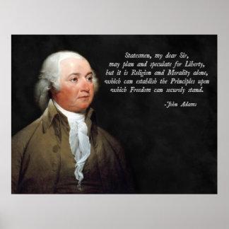 Cita de la moralidad de John Adams Poster