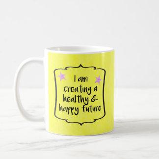 Cita de la motivación de las metas de la aptitud taza de café