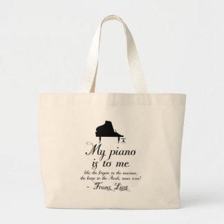 Cita de la música clásica del piano de Liszt Bolsa De Tela Grande