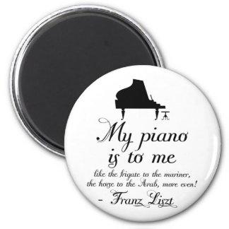Cita de la música clásica del piano de Liszt Imanes Para Frigoríficos