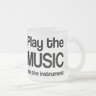 Cita de la música (juegue la música) taza de cristal