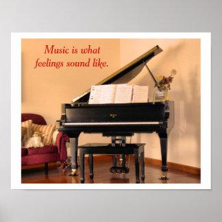 Cita de la música - poster