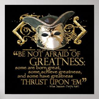 Cita de la noche de Reyes versión del oro Poster