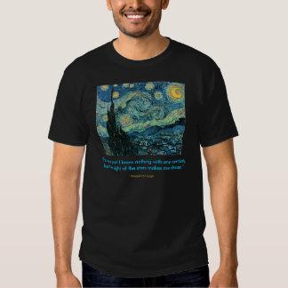 Cita de la noche estrellada camisas