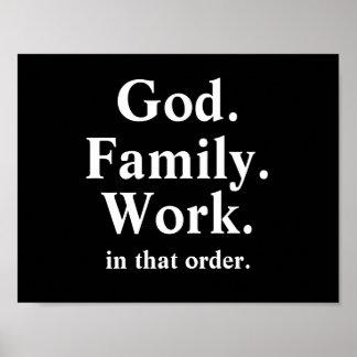 Cita de la orden de trabajo de la familia de dios posters