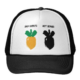 Cita de la paz - bombas de las zanahorias del desc gorros bordados
