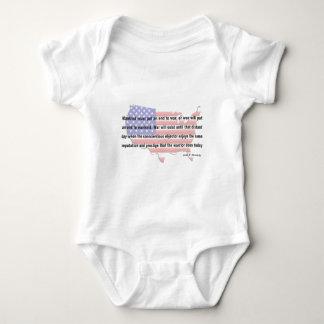 Cita de la paz de JFK Body Para Bebé