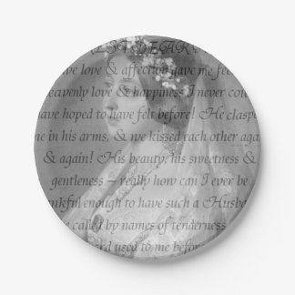 Cita de la reina Victoria Plato De Papel De 7 Pulgadas
