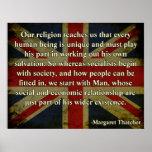 Cita de la religión de Thatcher Impresiones