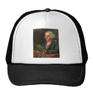 Cita de la sabiduría de Ben Frankling regalos y ta Gorros