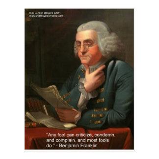 Cita de la sabiduría de Ben Frankling regalos y ta Tarjetas Postales