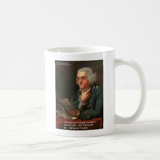 Cita de la sabiduría de Ben Frankling regalos y ta Taza