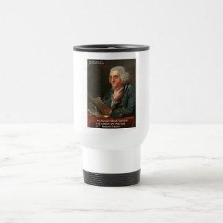 Cita de la sabiduría de Ben Frankling regalos y ta Taza De Café