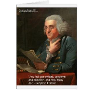Cita de la sabiduría de Ben Frankling regalos y Tarjetas