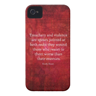 Cita de la SABIDURÍA de Emily Bronte iPhone 4 Case-Mate Cobertura